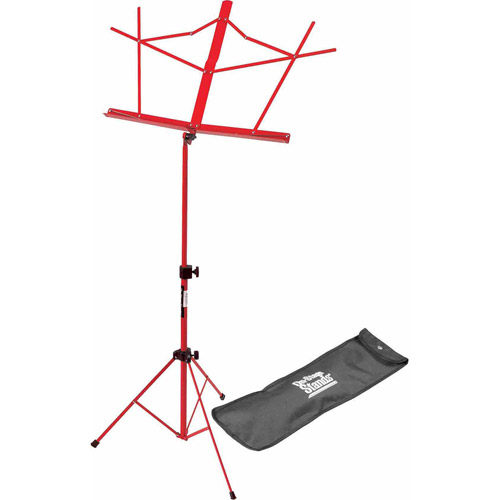 On Stage Folding Music Stand with Carrying Bag, Red by Generic
