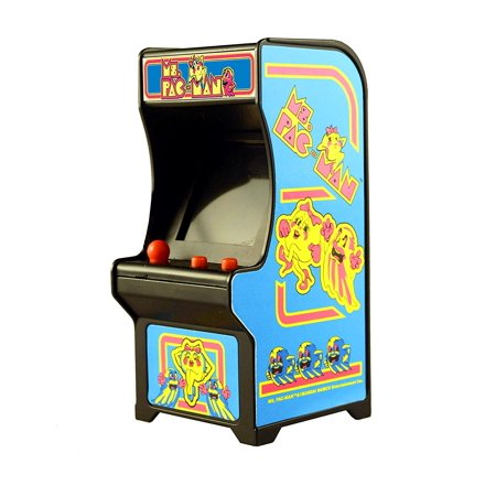 Ms  Pac-Man Miniature Arcade Game, Functional joystick By Tiny Arcade