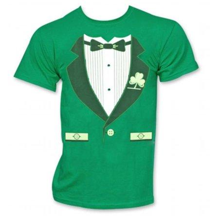 St. Patricks Day 19268S Irish Tuxedo Novelty Graphic Green T-Shirt, Small - St Patrick Sayings