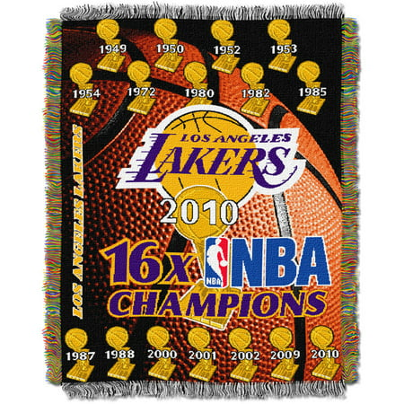 "NBA 48"" x 60"" Commemorative Series Tapestry Throw, Lakers"