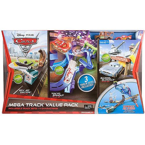 Disney Cars 2 Mega Track Value Pack
