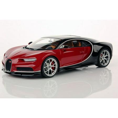 Bugatti Chiron Nocturne  Italian Red Model Car In 1 18 Scale By Mr Collection