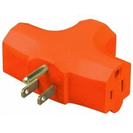 3-Outlet Adapter, Carded Orange Cube Tap Do It Best Outlet Adapters