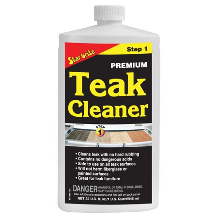 STAR BRITE Teak Cleaner 32 oz Clear 32 oz #713532 ()