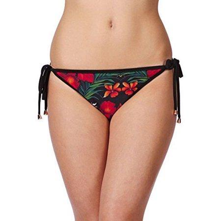 Ted Baker Women's Harrle Tropical Reverse Bikini Pant Black Swimsuit Bottom Sz:2 (Ted Baker Sonnenbrille Fall)