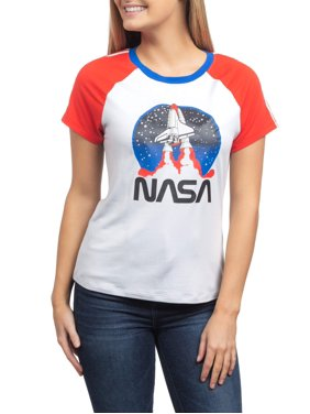 a8818f2d9 Product Image Juniors' NASA Launch Americana Ringer Graphic T-Shirt