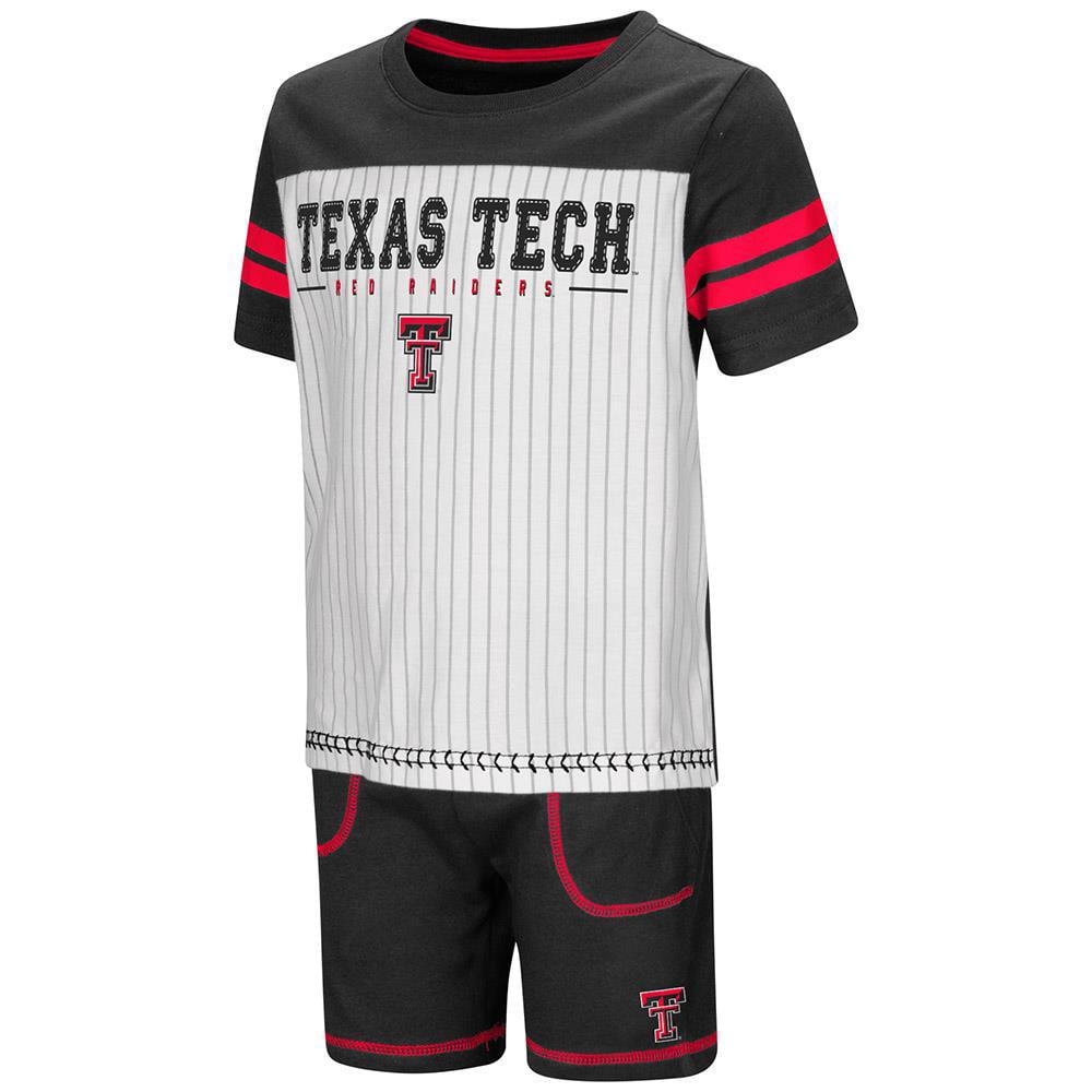 Toddler Texas Tech Red Raiders Pinstripe Tee Shirt and Shorts Set - 2T