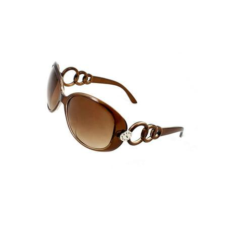 Single Bridge Plastic Arm Full Frame Rim Sunglasses Eyeglasses for Ladies (Bridge Support For Eyeglasses)