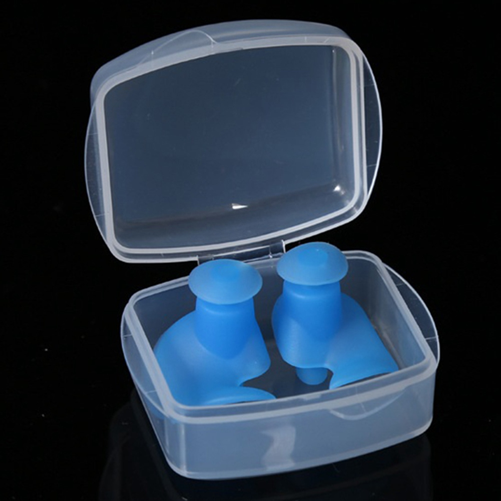 Fancyleo 2 Pairs Reusable Silicone Swimming Ear Plugs Soft And Flexible Waterproof Earplugs