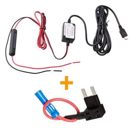 Spytec Mini Hardwire + Fuse Kit Dash Cam Hardwire Mini USB-Keeps 12V outlet
