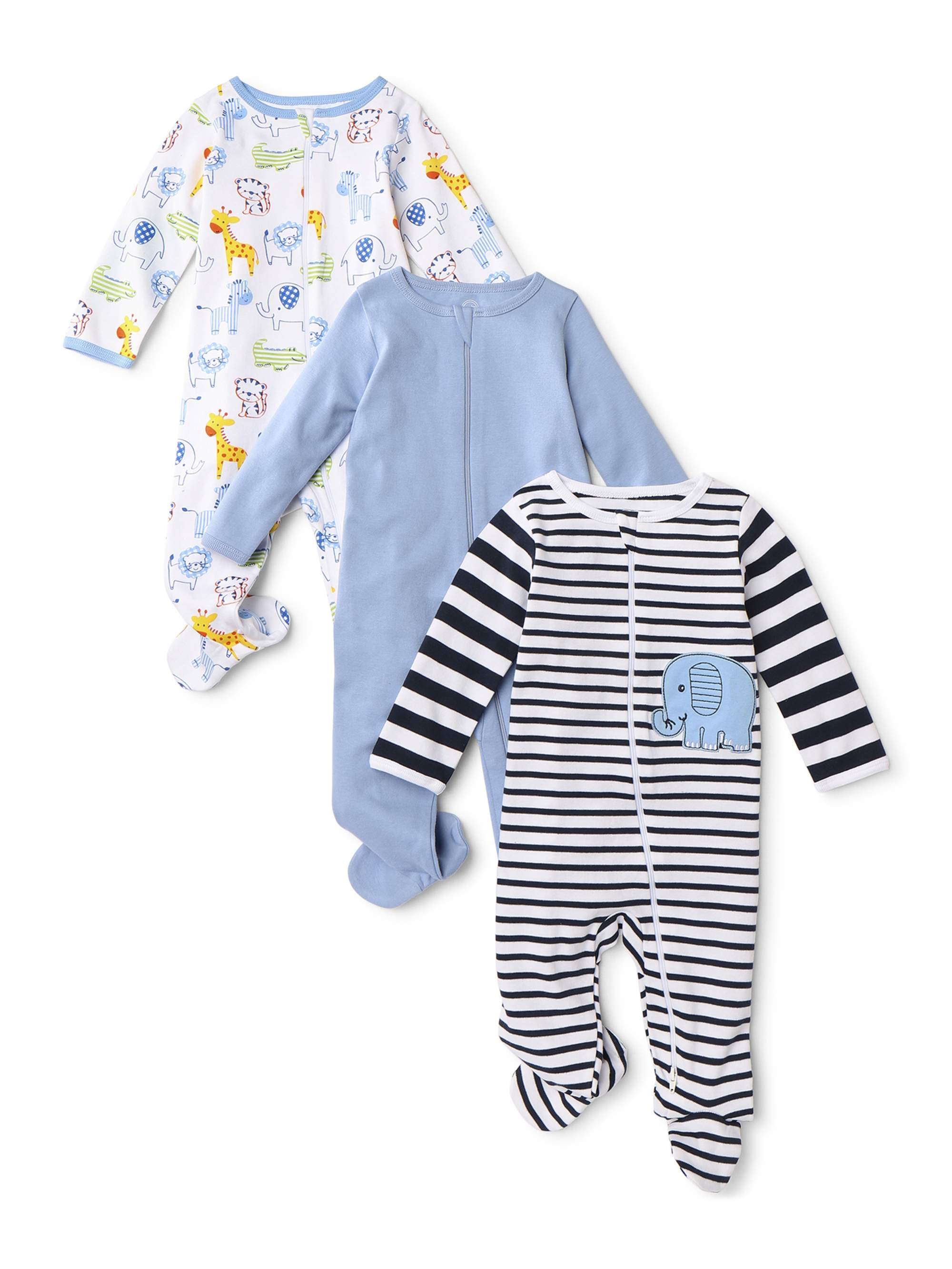 Mon Petit Baby Boys Sloth Shark 2-Piece Pajamas