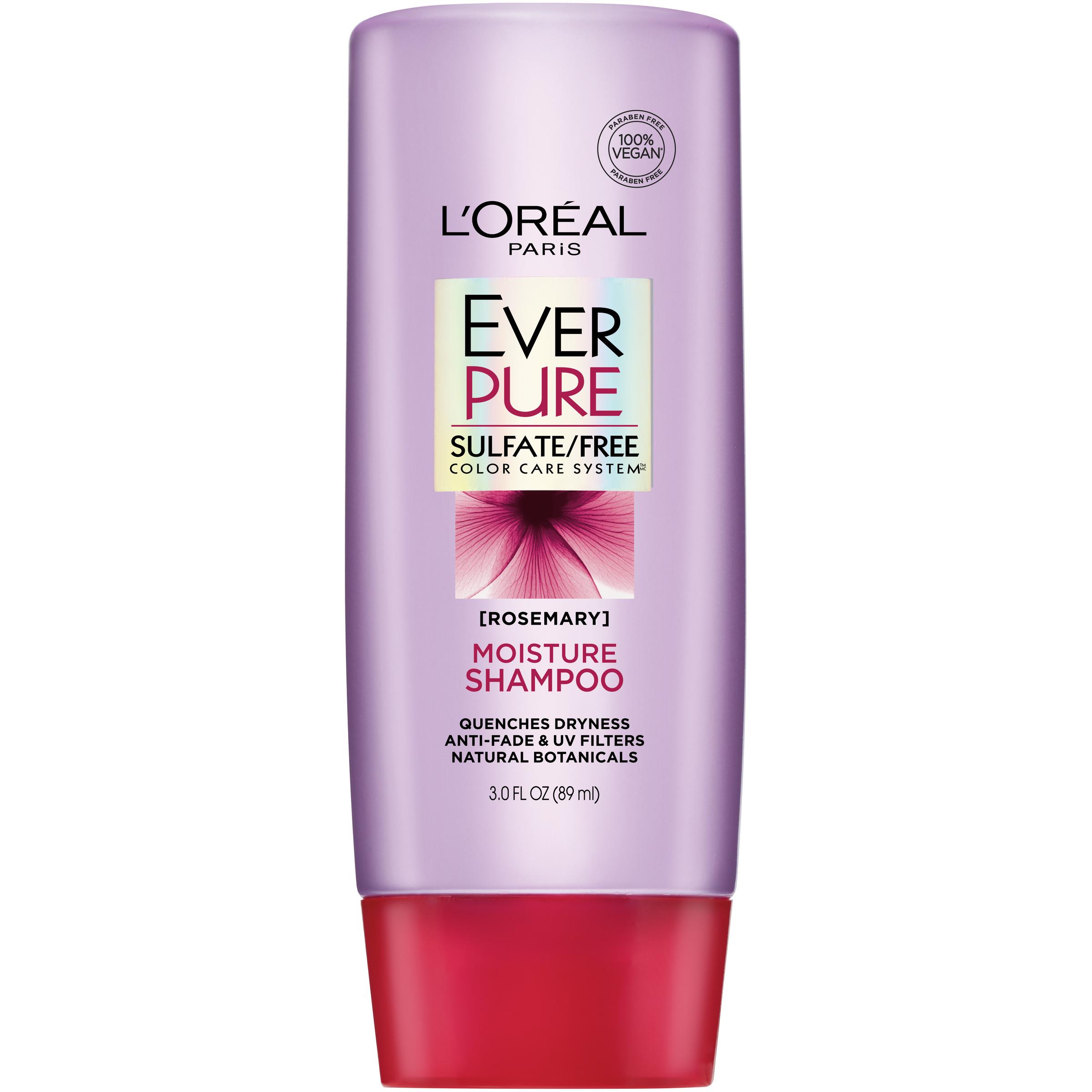 (2 Pack) L'Oreal Paris EverPure Sulfate Free Moisture Shampoo 3 FL OZ