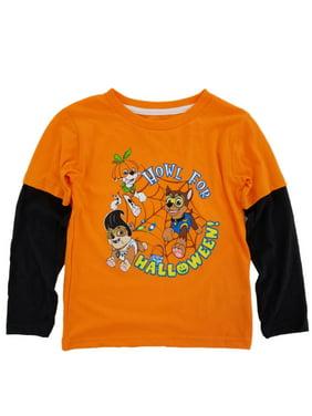 Paw Patrol Infant & Toddler Boys Orange Howl For Halloween Long Sleeve Shirt