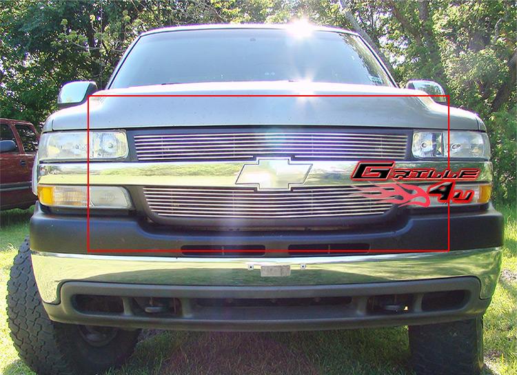 Fits 01-02 Chevy Silverado 2500//3500 Main Upper Billet Grille Insert