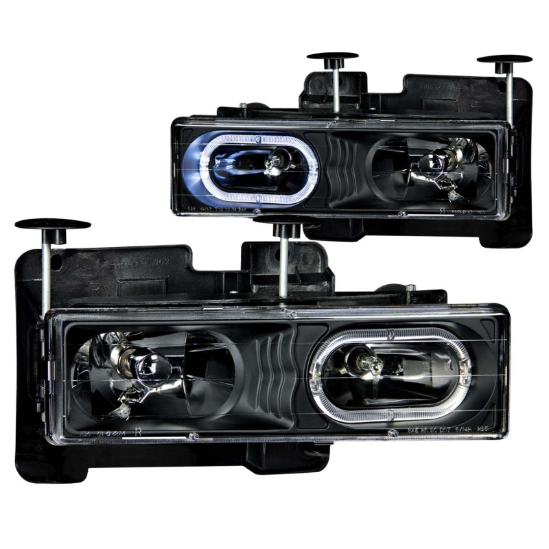 Sold in Pairs Anzo USA 111007 Crystal With Halo Black Headlight Assembly