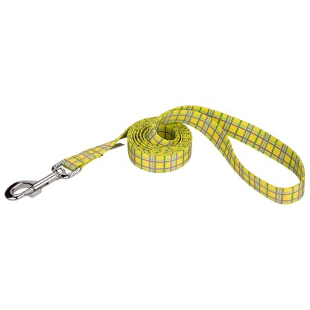 Country Brook Design® 5/8 Inch Banana Plaid Dog Leash - 4 - Dog In A Banana Suit