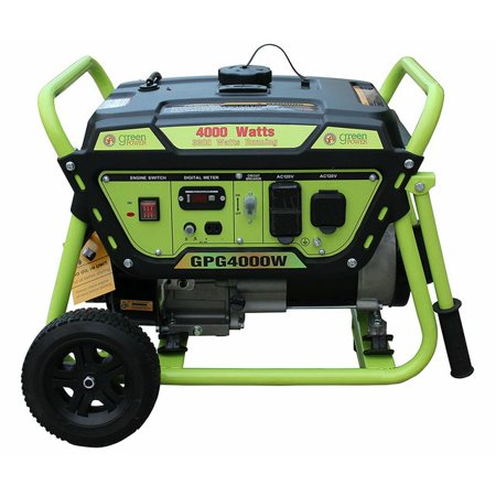 Green-Power America Gas Generator Pro Series GPG4000W delivers 4000 watts of starting power and 3300 watt of continious power.