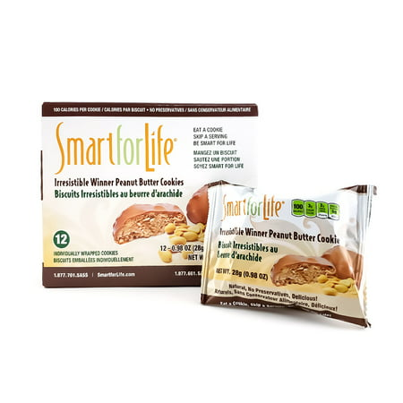 Smart for Life Irresistible Winner Peanut Butter Diet Cookies 12 Ct