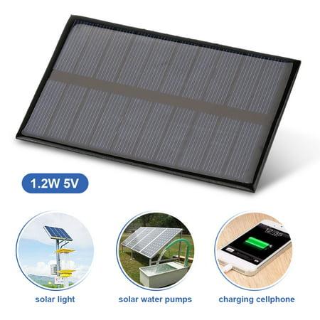 Sonew 1.2W 5V Mini Portable Polycrystalline Solar Panel DIY Power Module Charger 110*69mm, Battery Solar Panel, Mini Solar Panel - image 5 of 8