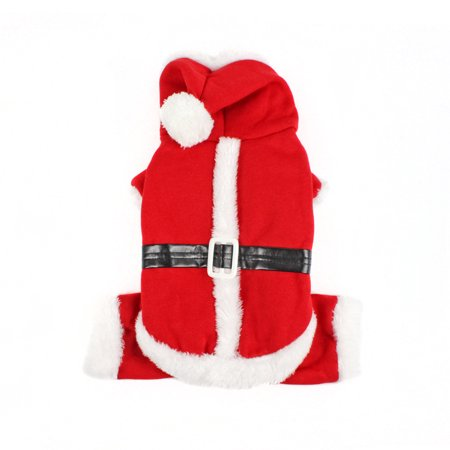 S/M/L/XL Pet Clothes Dog Christmas Costume Cute Cartoon Santa Clothes for Small Dog Cloth Costume Dress Xmas apparel for Kitten - Dog Costumes For Christmas