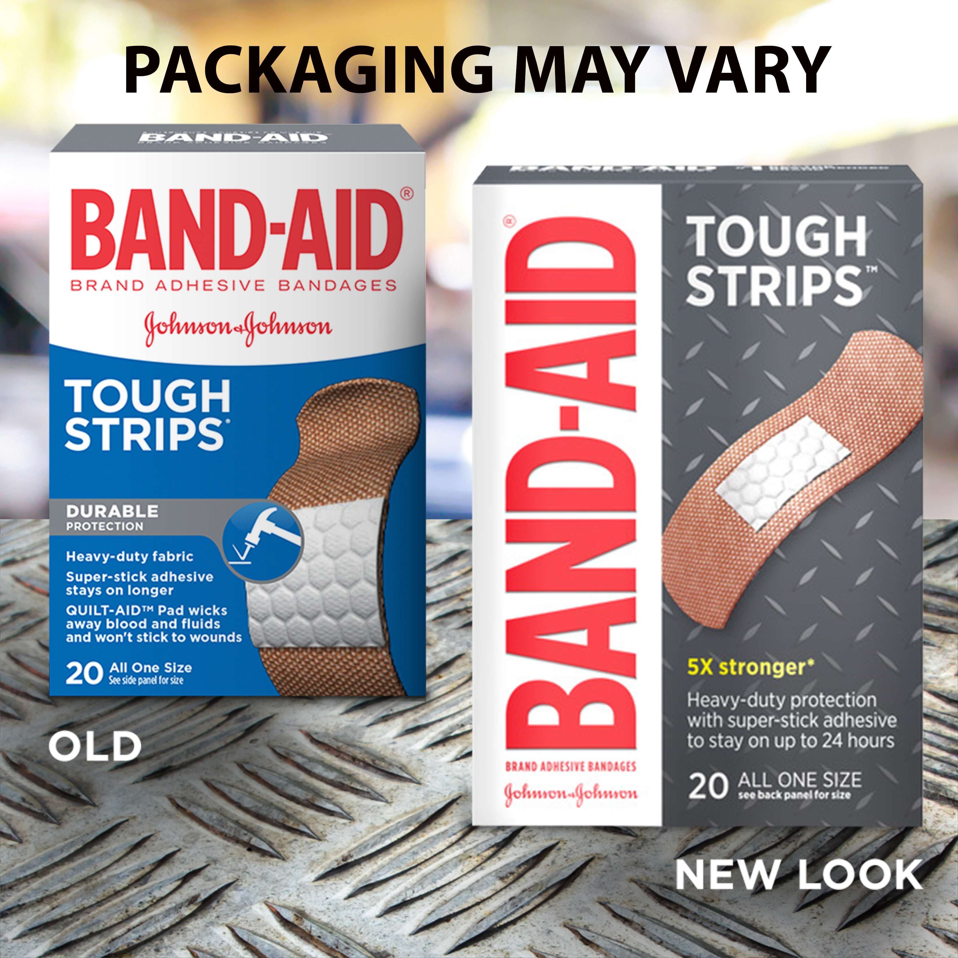 Band-Aid Brand Tough Strips Adhesive Bandage, All One Size, 20 ct
