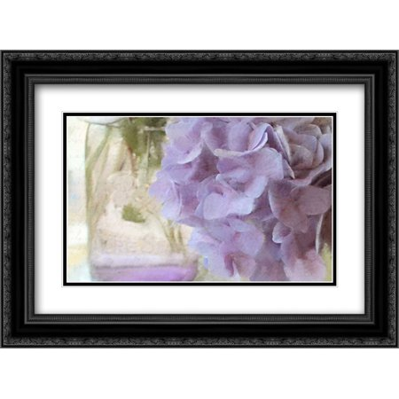 Hydrangea Jar 2x Matted 24x18 Black Ornate Framed Art Print by Allen, Kimberly ()