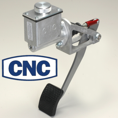 Cnc Red Reverse Swinging Single Brake Pedal Assembly Tall 1 Inch Bore Master Cylinder