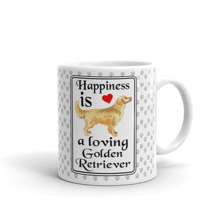Happiness is a Loving Golden Retriever Coffee Tea Ceramic Mug Office Work Cup Gift 11