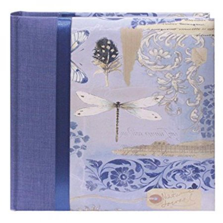 Pioneer Bella Fabric Ribbon Frame Bi-Directional Memo Frame Photo Album, Bella Fabric Covers, Holds 200 4x6 Photos, 2 Per Page Color: Sky.