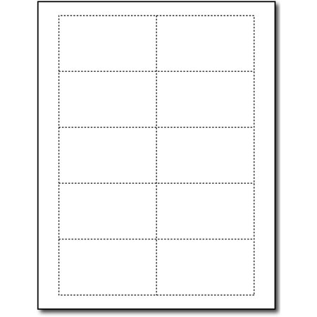 Heavyweight White Business Cards - 100 Sheets / 1000 Business Cards White Linen Business Cards
