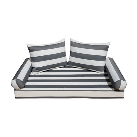 Admirable 5 Pc Twin Mattress 75 X 38 X 5 Porch Patio Swing Bed Bench Daybed Cushion Silver White Stripe Cjindustries Chair Design For Home Cjindustriesco