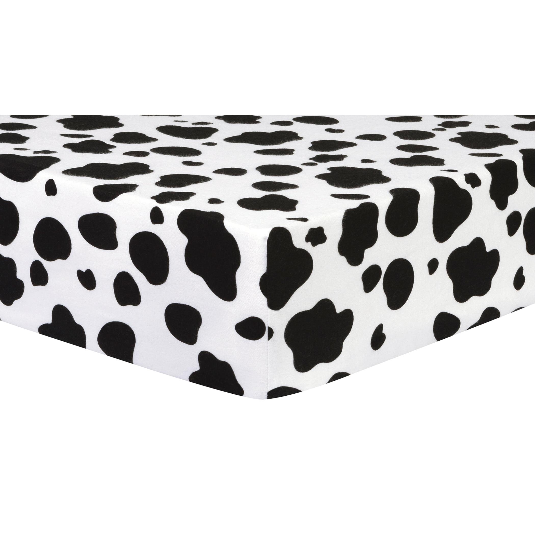 Black-and-White-Cow-Print-Crib-Sheet