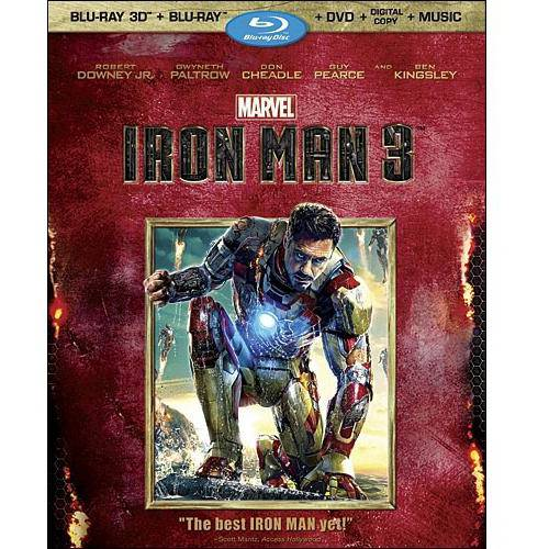 Iron Man 3 (3D Blu-ray + Blu-ray + DVD + Digital Copy + Music Download) (Widescreen)