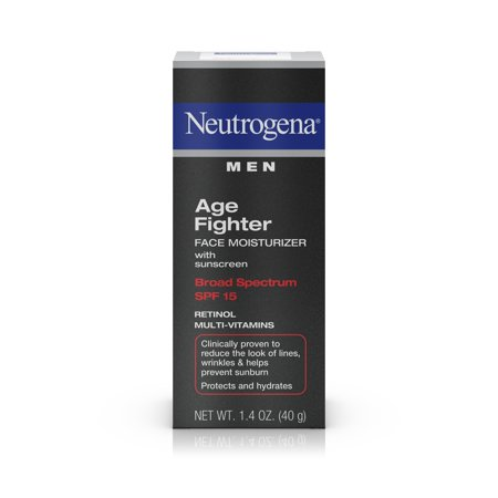 Neutrogena Men's Anti-Wrinkle Age Fighter Moisturizer, SPF 15, 1.4