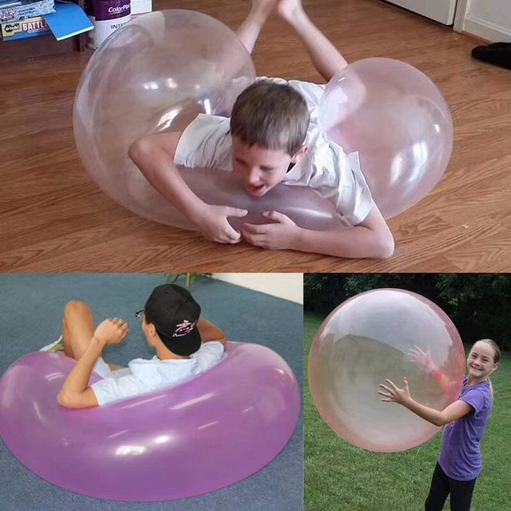 Outdoor Big Amazing Bubble Ball Water-filled Interactive Rubber Balls Toy 120cm