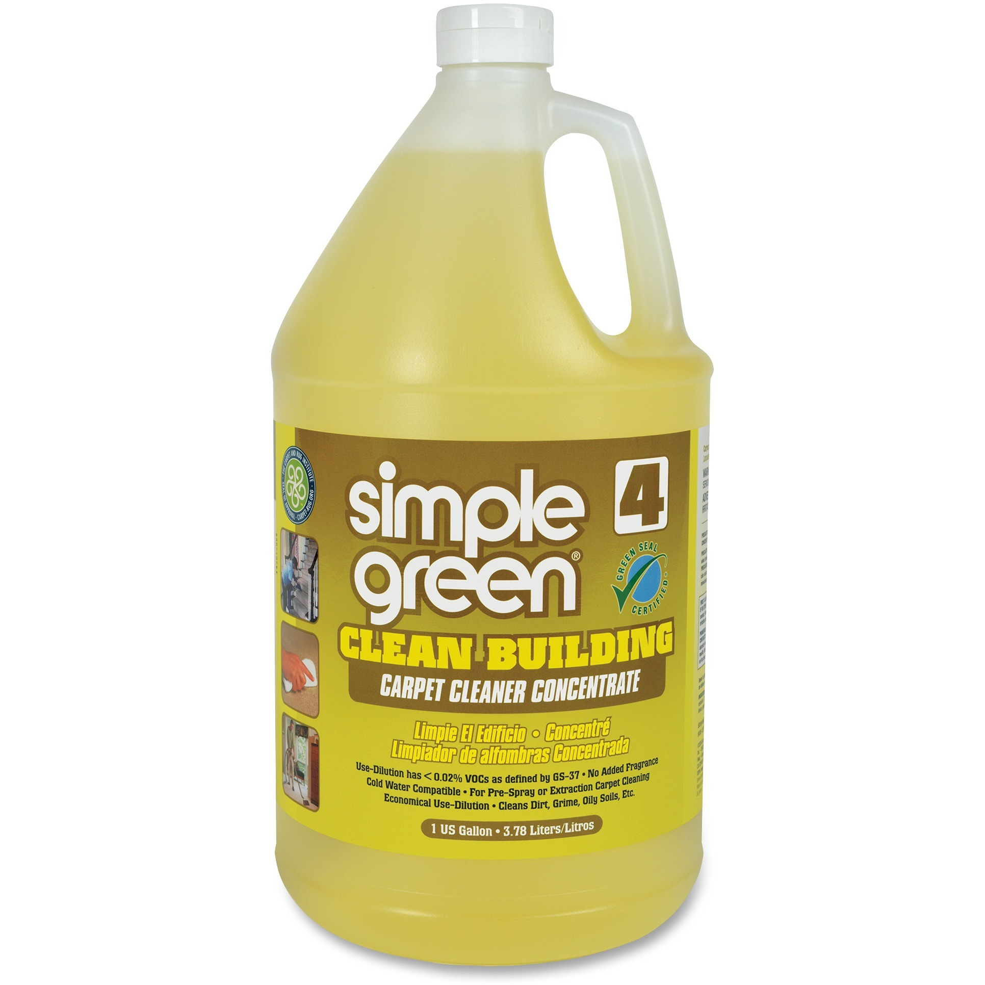 Simple Green, SMP11201, Clean Building Carpet Cleaner Concentrate, 1 Each, Sand