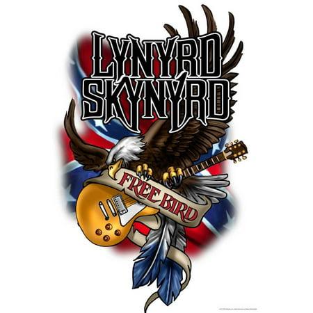 lynyrd skynyrd free bird southern rock music laminated poster wall art. Black Bedroom Furniture Sets. Home Design Ideas