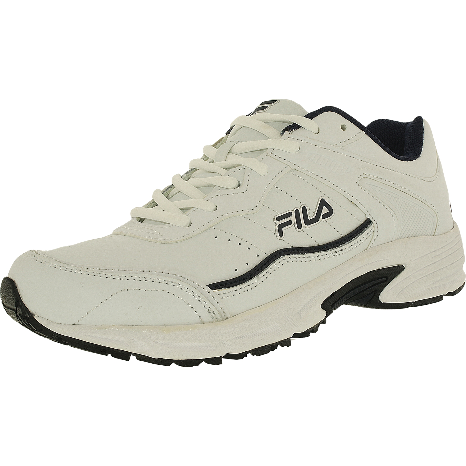 Fila Memory Sportland 4E Round Toe Leather Running Shoe by Fila