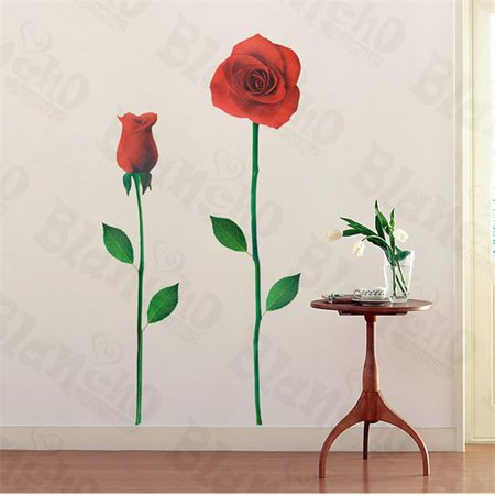 Glorious Rose 2 - X-Large Wall Decals Stickers Appliques Home Decor - image 1 de 1