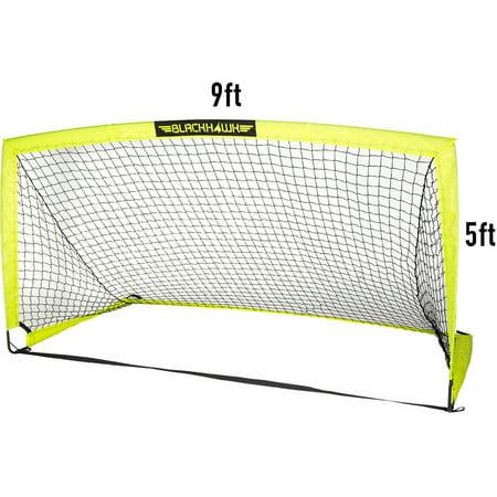 6dec6d9b0c4 Franklin sports 9' x 5' blackhawk portable soccer goal (Includes 4 Hooks  and ...