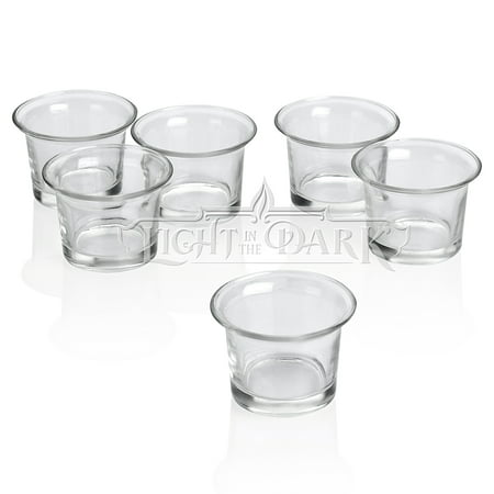 72 Glass Holders (Clear Glass Lip Votive Candle Holders Set of)