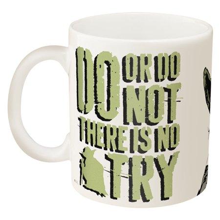 (Zak! Designs Ceramic Mug with Star Wars and Yoda Graphics, 11.5 oz.)