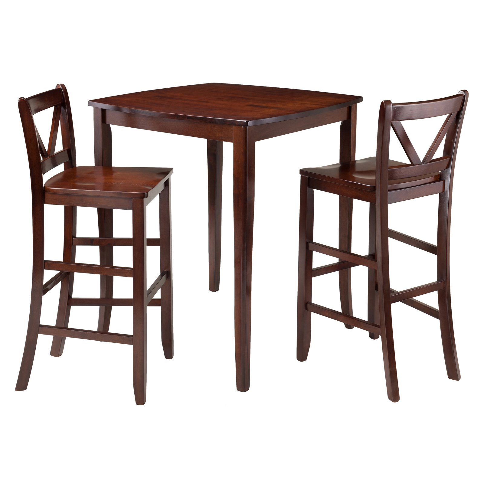 winsome trading inglewood 3 piece counter height dining table set