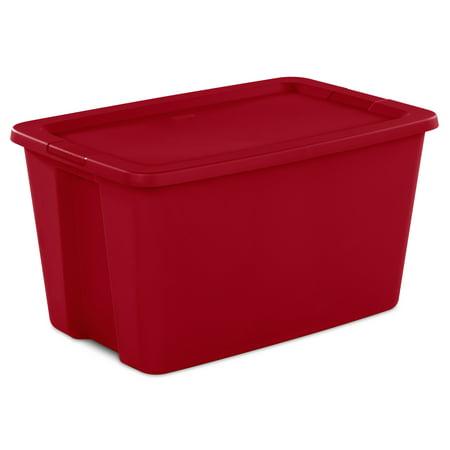Sterilite, 30 Gal./114 L Tote Box, Infra Red
