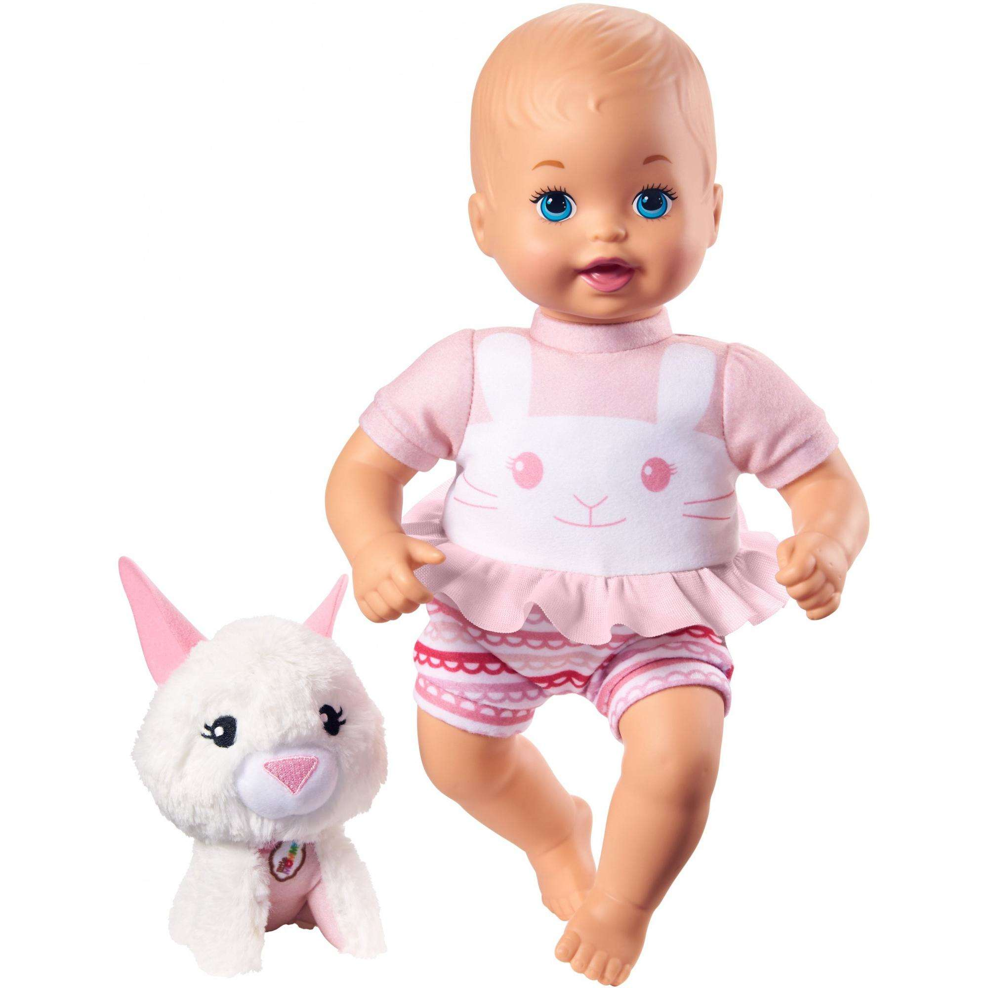 Little Mommy Cuddle and Care Doll and Pet Bunny