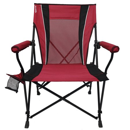 Kijaro Dual Lock Hard Arm Portable Camping and Sports Chair Red Rock