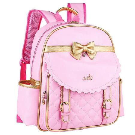 School Backpack  Coofit Kids Lovely Faux Leather Princess Book Bag Rucksack Knapsack Pink