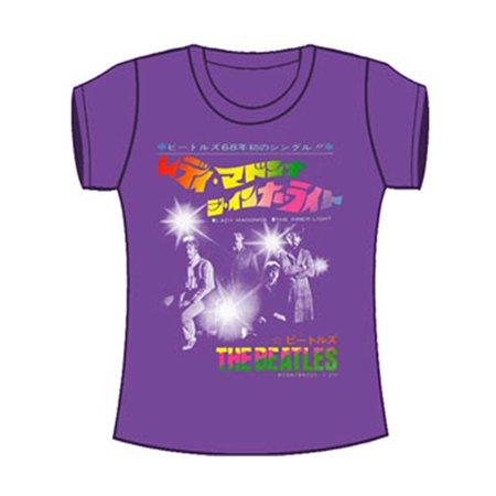 Beatles  Inner Light Girls Jr Tissue Tee Purple