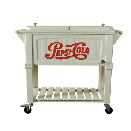 Permasteel 80 qt  Rolling Patio Cooler Furniture Style