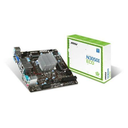 MSI Intel Braswell N3050 DDR3 DDR3L USB 3.1 Mini ITX Motherboard (N3050I ECO)